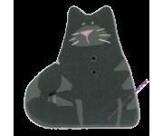 1138.L Большой очень чёрный кот (large very black cat)