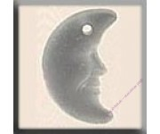 12139 Crescent Moon Matte Crystal