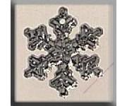 12035 Small Snowflake Crystal Bright 12 мм