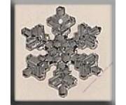 12037 Medium Snowflake Crystal Bright 16 мм
