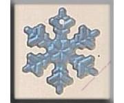 12161 Small Snowflake Matte Crystal AB 12 мм
