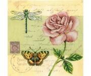 M70016 Почтовая открытка - Роза (набор)