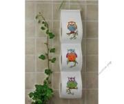 """держатель  для туалетной бумаги """"Три совы"""""""