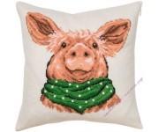"подушка ""Счастливая свинка"""