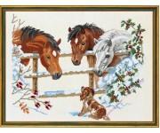 """Лошадки и щенок"", аида"