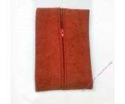 Задник наволочки на поролоне 45х45 см, рыжий