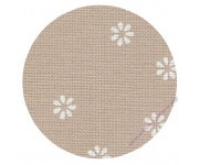 3984/7399 Бежевый в белый цветок (Beige bis & white fler)