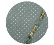 3984/5269 Старинный синий в белый горох (Antique Blue linen & white dots)
