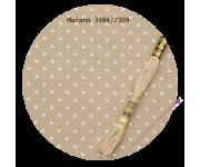 3984/7309 Бежевый в белый горох (Beige bis & white dots)