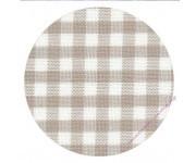 7663/1012 Бежево-молочная клетка (Checkered Beige and Antique White)