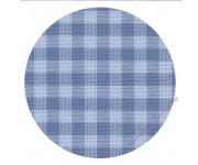7663/5409 Murano-Carre в сине-голубую клетку (Checkered Blue)