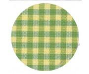 7663/6282 Murano-Carre в желто-зеленую клетку (Checkered Green and Yellow)