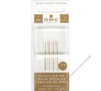 DMC  Иглы для вышивки крестом позолоченные № 26, 4 шт.