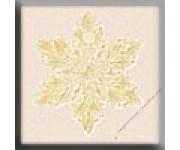 12163 Small Star Snowflake Glacier Blue 12 мм