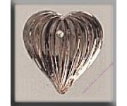 12067 Medium Fluted Heart Rosaline
