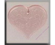 12182 Medium Floral Emb. Heart Pale Rose