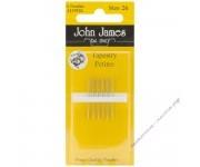 John James Иглы гобеленовые укороченые № 26, 6 шт.