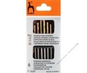 PONY Иглы для гобеленовых и трикотажных тканей, двойное ушко № 15-20,  6 шт.