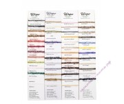 "Rainbow Gallery карта цветов ""Wisper"" с образцами нитей"
