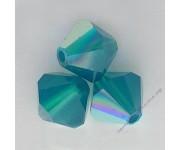 Caribbean Blue Opal Aurore Boreale (349 AB) 4 мм