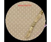 3609/5379 Натуральный в белый горох (Raw linen & white dots)