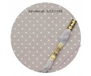 3217/7349 Cерый в белый горошек (Gray linen/white dots)