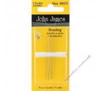 John James Иглы для бисера №10-13, 4 шт.