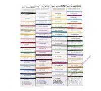 "Rainbow Gallery карта цветов ""Petite Silk Lame' Braid"" с образцами нитей"